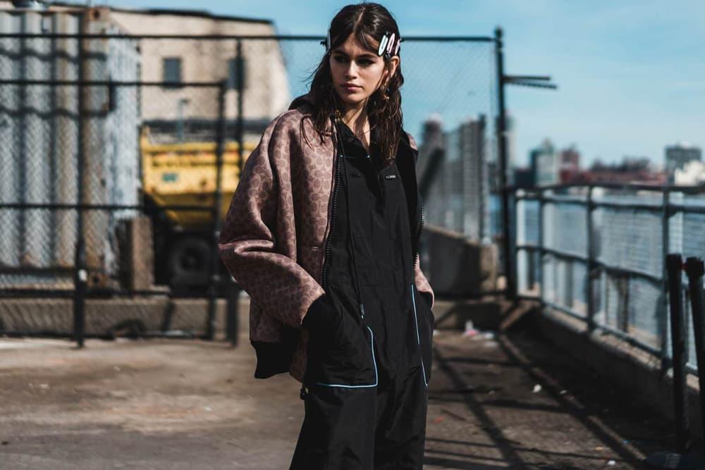 Kaia Gerber Coach 1941 New York Fashion Week 2018 Streetsnap