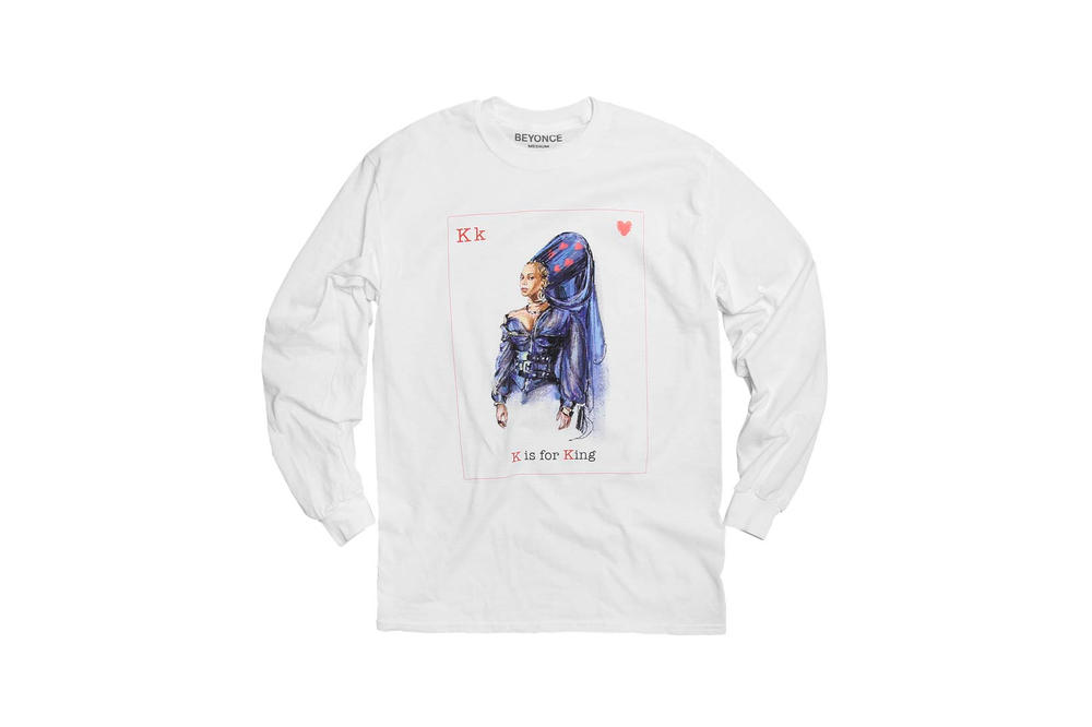 Beyonce Valentine's Day Long Sleeve T-Shirt White