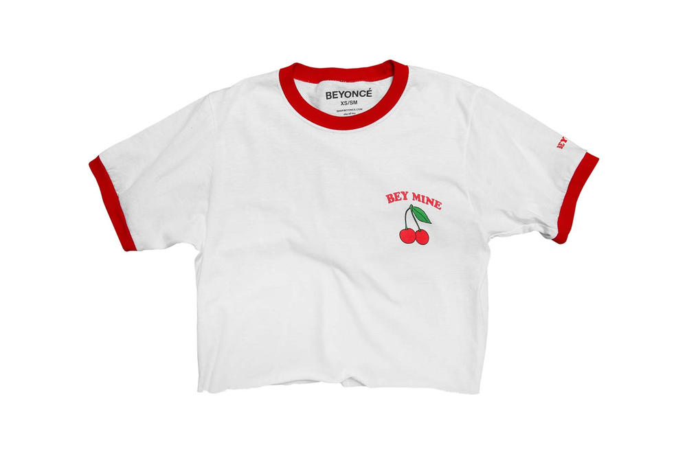 Beyonce Valentine's Day Cropped T-Shirt White