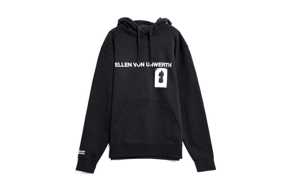 Ellen von Unwerth x Caliroots Capsule Collection Black hoodie