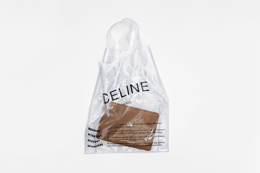 Celine Plastic Bag Solo Clutch Tan Lambskin