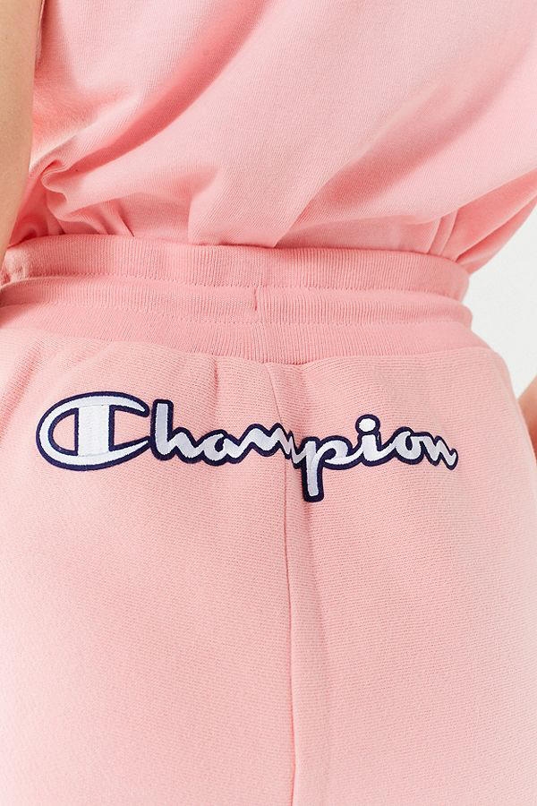 5ff6197fb31d Champion Pink Reverse-Weave Shorts T-Shirt Set Urban Outfitters Logo  Embroidery Loungewear Summer