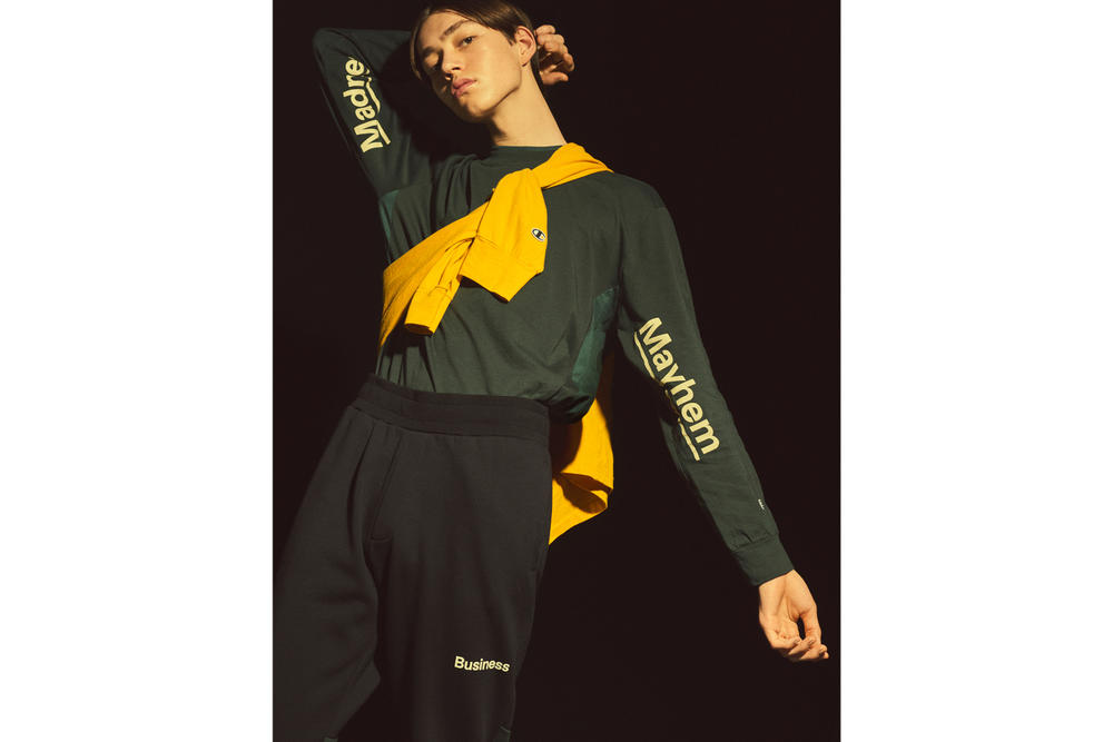 Wood Wood x Champion Spring/Summer Collection 2018 Monochrome Streetwear Staples Hoodie Danish