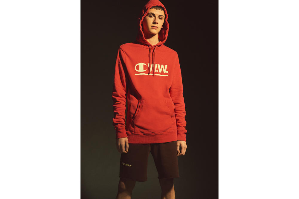 Wood Wood x Champion Spring/Summer Collection 2018 Monochrome Streetwear Staples Hoodie Danish