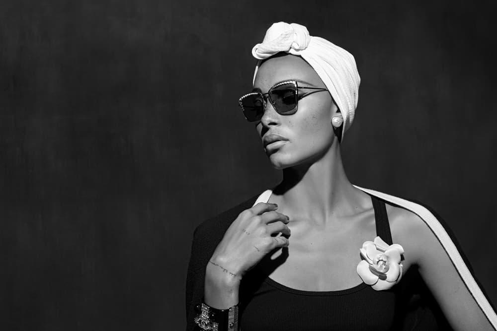 Adwoa Aboah Chanel Spring/Summer 2018 Eyewear Campaign Karl Lagerfeld