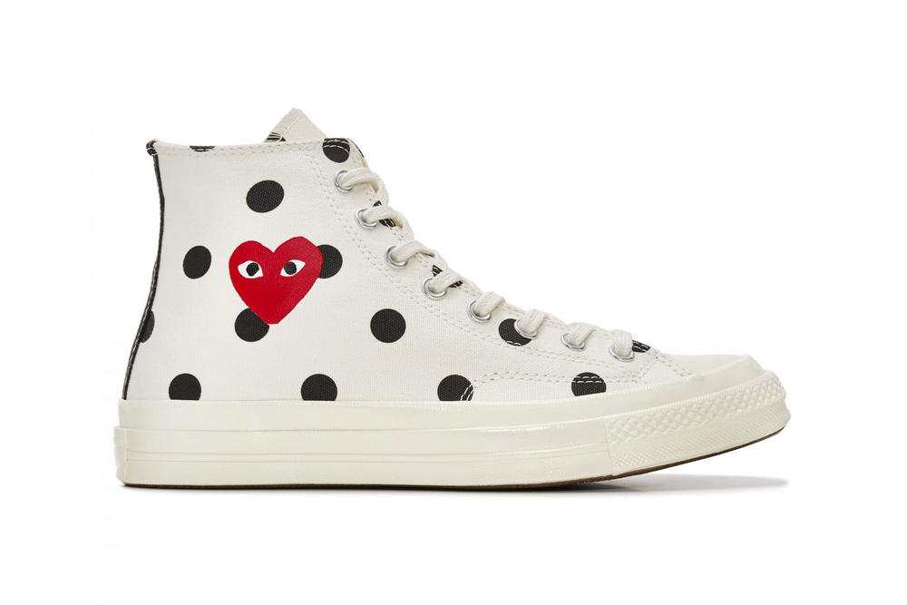 comme des garcons play converse chuck taylor all star 70 where to buy collaboration polka dot heart dover street market restock