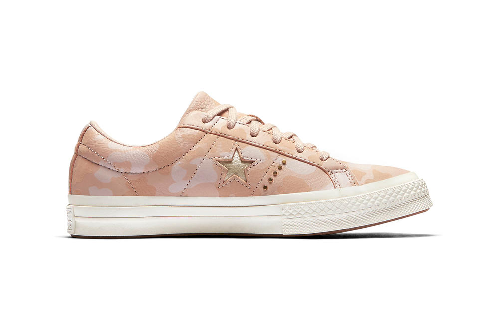 Converse One Star Camo Gold Pink