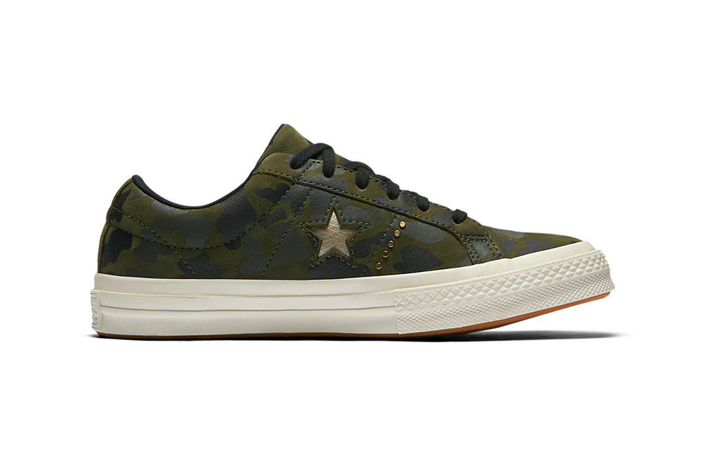 Converse One Star Camo Gold Green