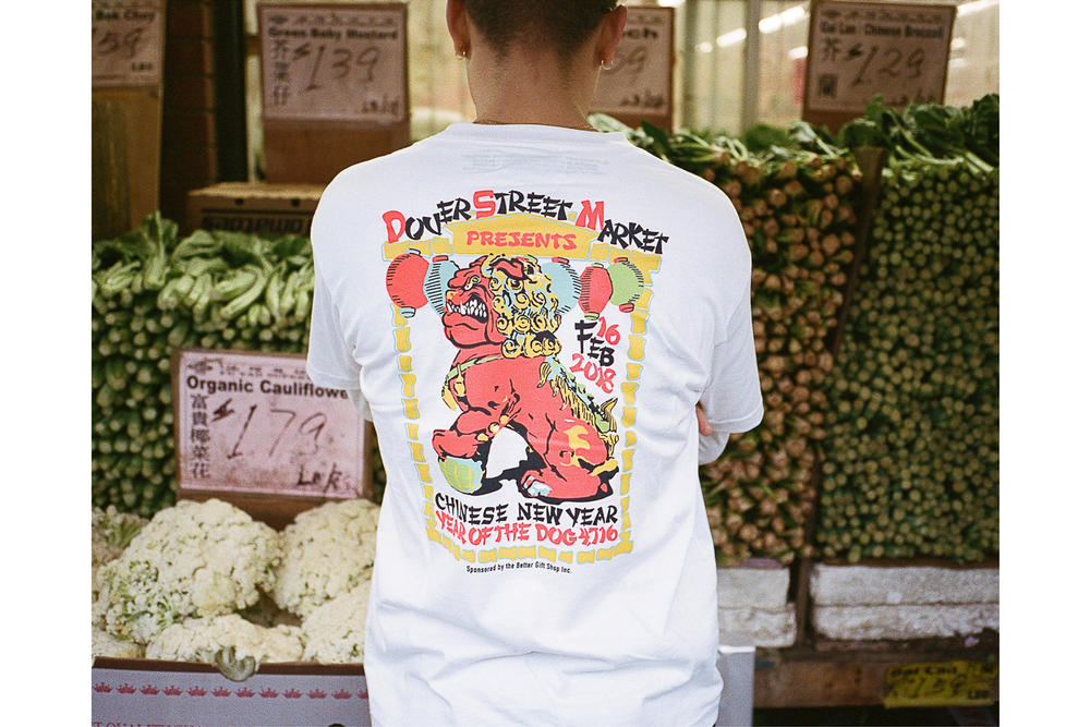 Dover Street Market Year of the Dog Collection NikeLab A Bathing Ape Stussy T-Shirt White