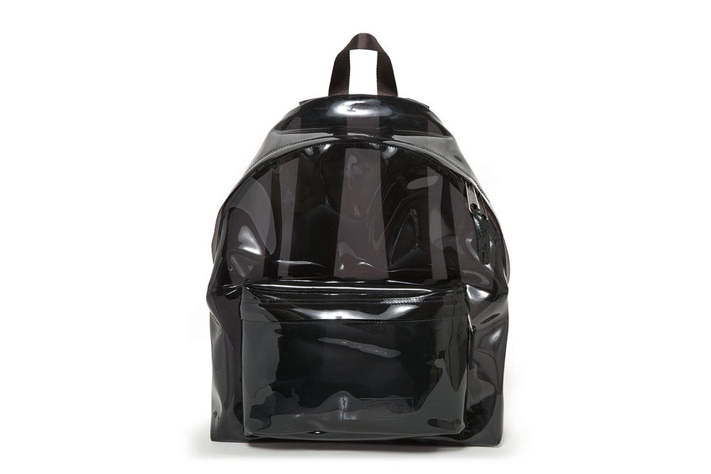 Eastpak pvc transparent see through clear black backpack bum bag fanny pack Padded Pak'r Springer Film rucksack