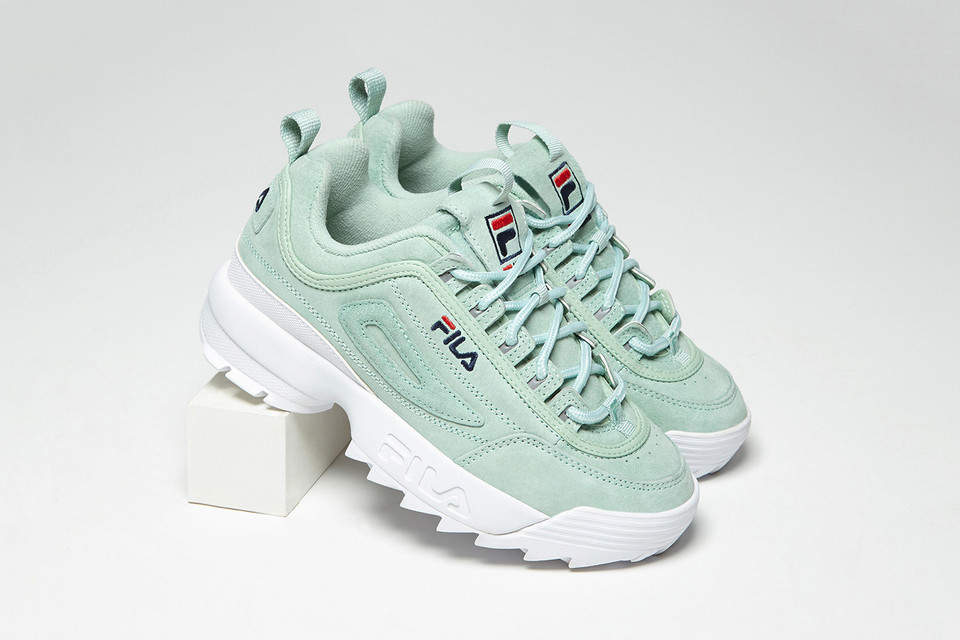 cdf8415541b4 FILA Disruptor 2 in Turquoise Grey Gold Silver