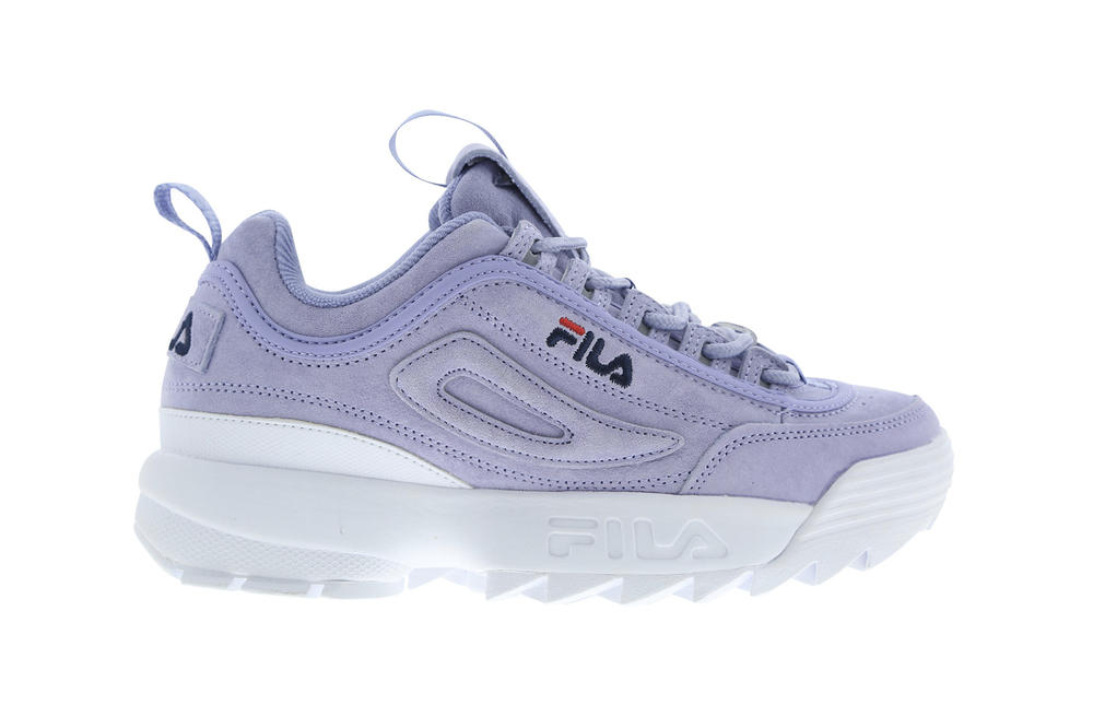 FILA ultra violet pantone 2018 disruptor 2 II sneaker sweet lavender pastel purple chunky bulky 90s dad shoe affordable where to buy Foot Locker
