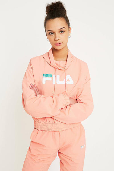 FILA elsieFunnel Neck Logo Track Set Peach Pink pastel top pants urban outfitters where to buy