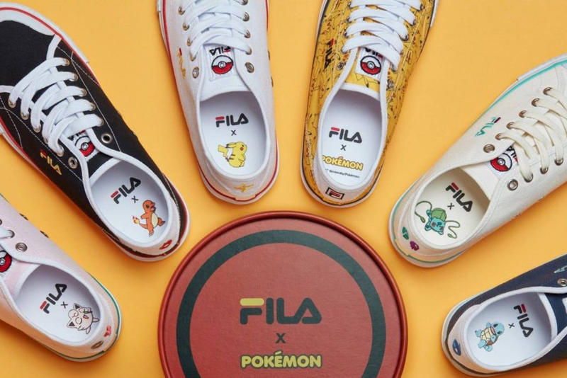 FILA Korea Pokemon Capsule Sneaker Collection Pikachu Bulbasaur Squirtle Jigglypuff Charmander Anime Cartoon Pocket Monsters