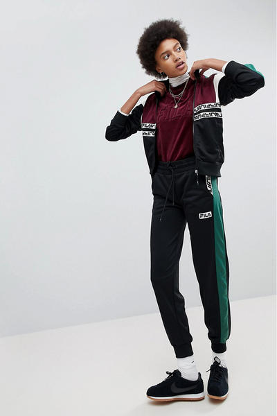 FILA ASOS exclusive retro 90s sportswear track jacket logo velour t shirt sweatshirt