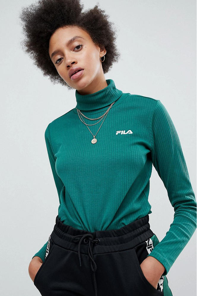 FILA ASOS exclusive retro 90s sportswear track jacket logo velour t shirt sweatshirt
