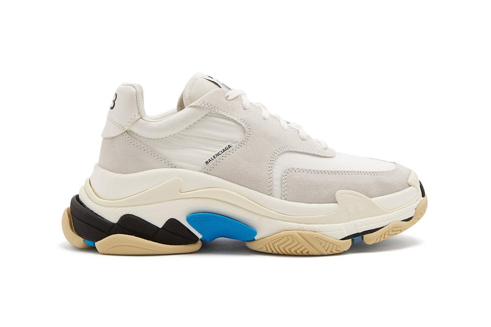 a5f853c536e4 Balenciaga Triple-S sneaker minimal white blue black mens womens unisex  where to buy matchesfashion