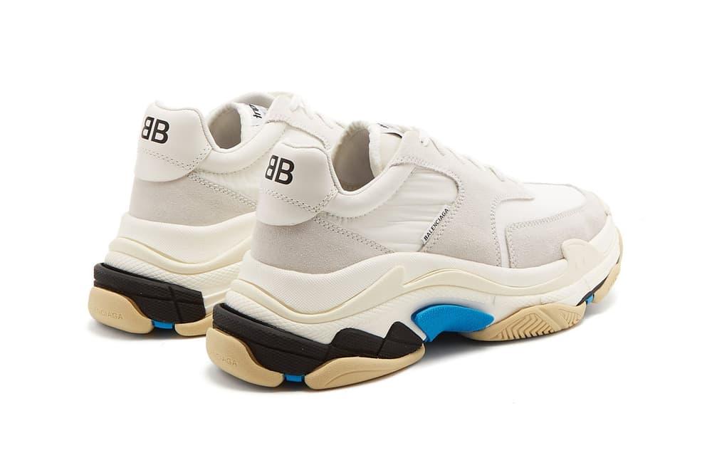 Balenciaga Triple-S sneaker minimal white blue black mens womens unisex where to buy matchesfashion.com matchesfashion