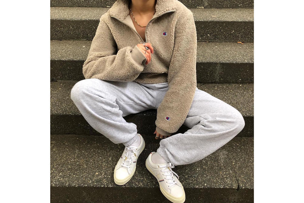 Get the HYPEBAE Look: How to Wear Teddy Fleece Outfit Ideas Winter Look Outfit Inspiration Cozy Champion A-Cold-Wall Dior Maybelline Gigi Hadid