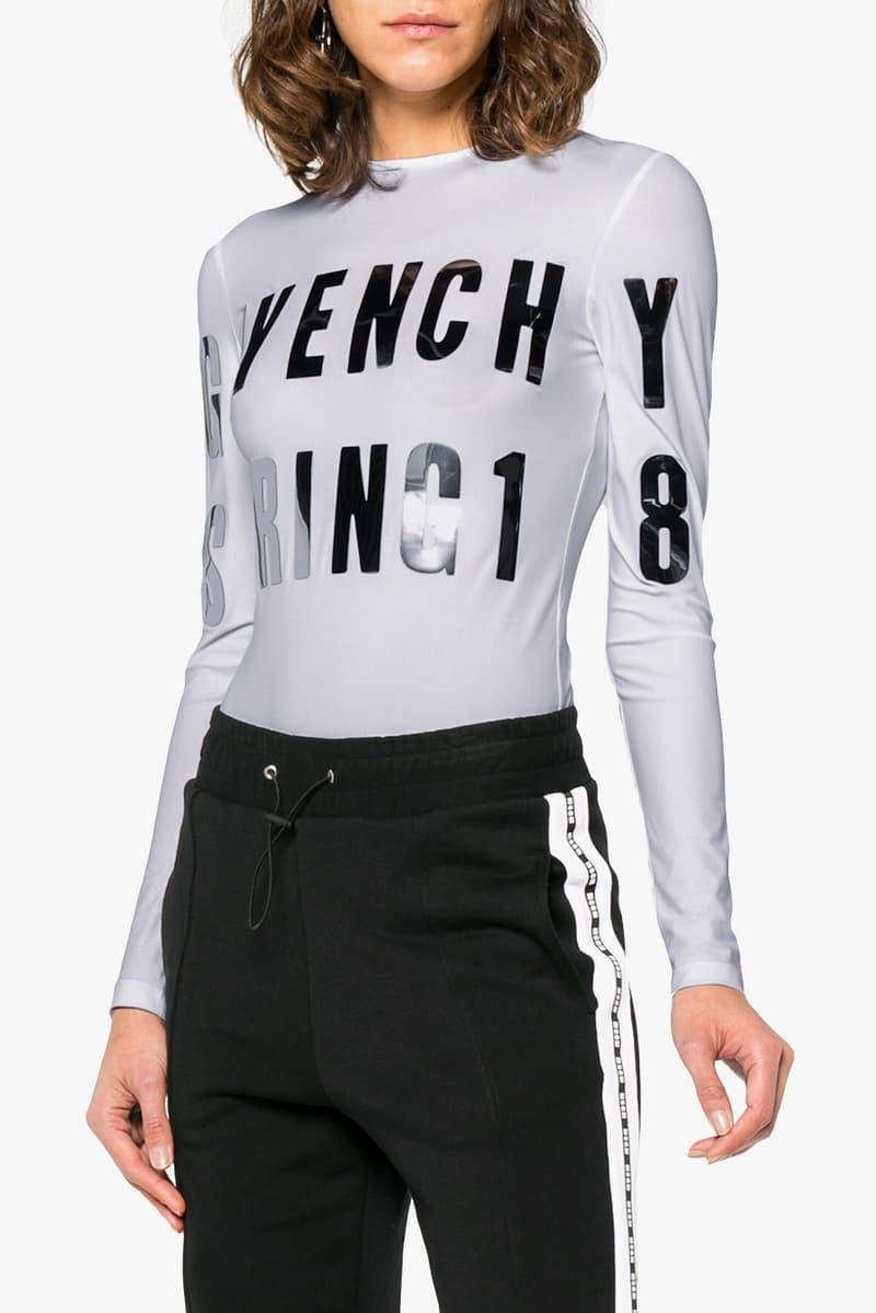 Givenchy Spring 2018 Logo Bodysuit Grey