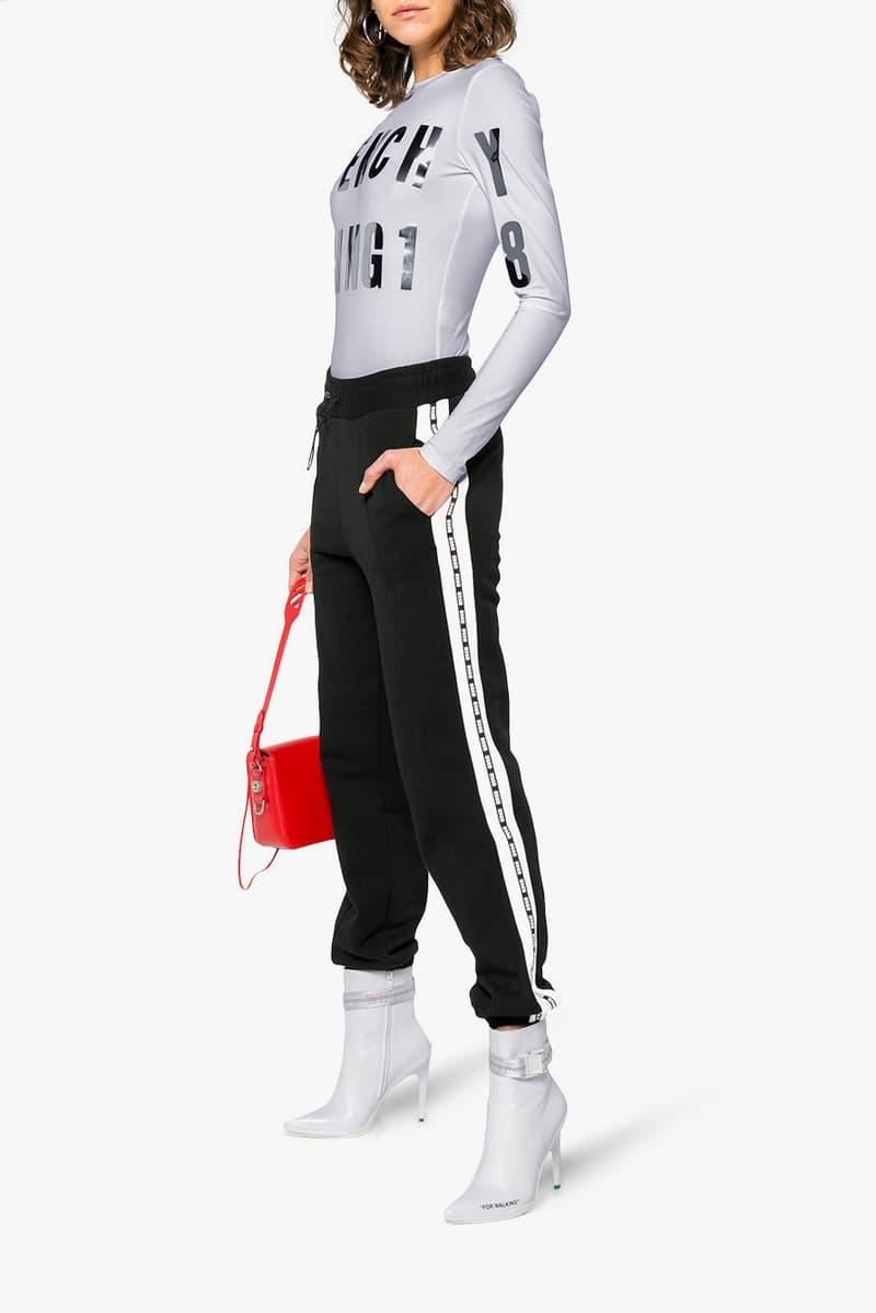 Givenchy Spring 2018 Logo Bodysuit Grey Look