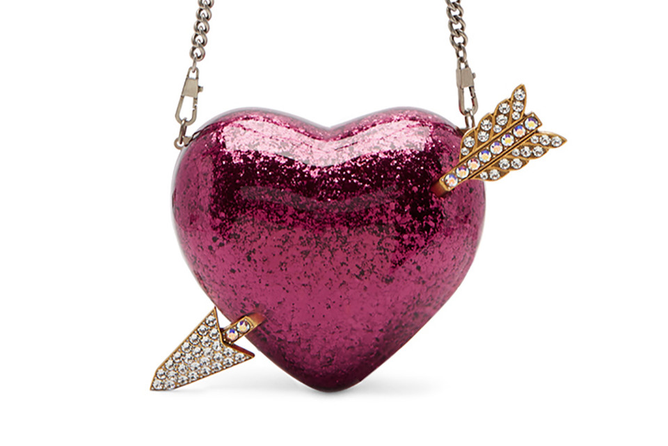 d56817e272a Gucci Releases Pink Glitter Heart and Arrow Bag