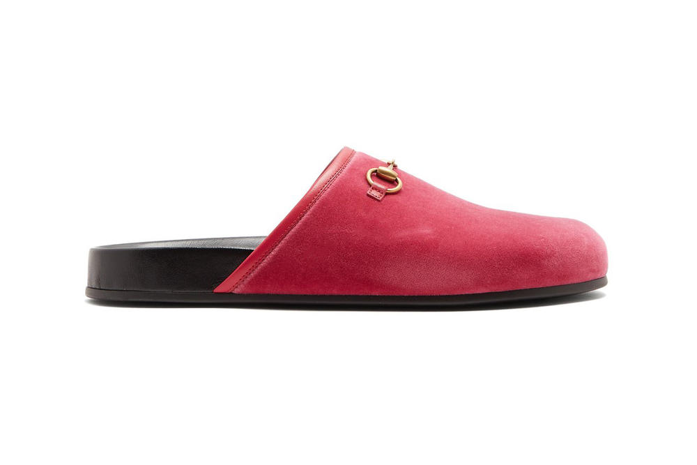 1b5a835186eb Gucci New River Loafers rose pink velvet slip on womens slippers spring  footwear where to buy