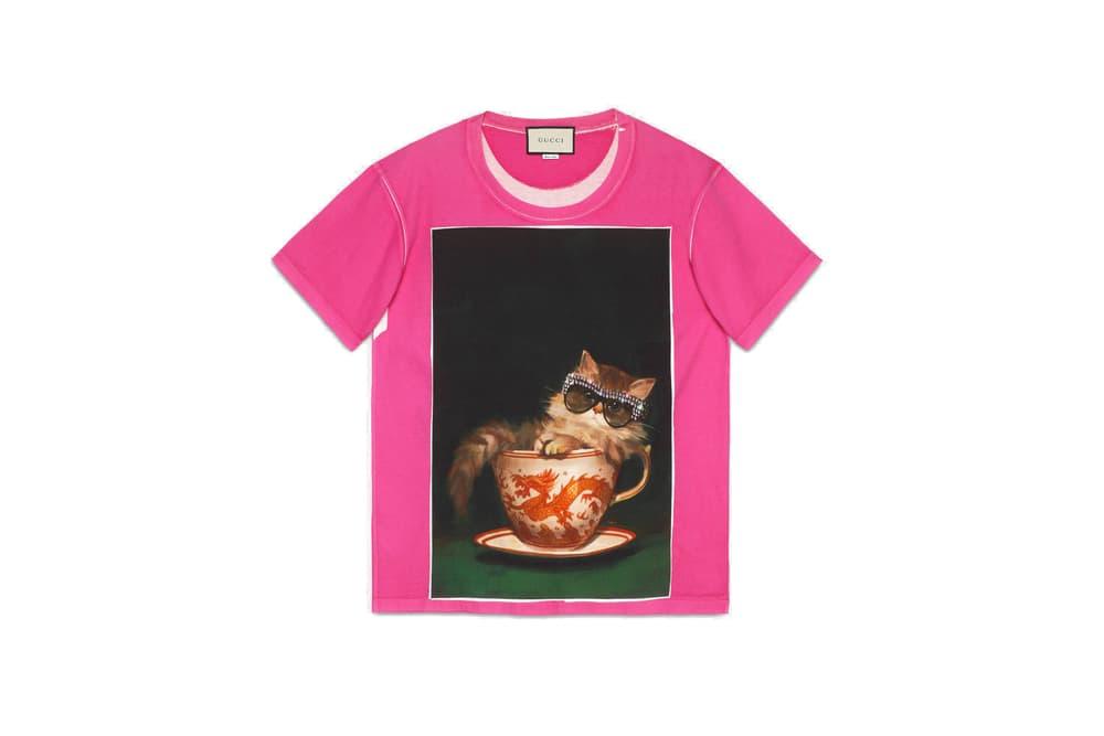 Gucci Logo T-Shirt Spring/Summer 2018 Restock Print Unknown Artist Coco Capitan Collaboration Prints Logo Retro Vintage Shirt Graphic Bold
