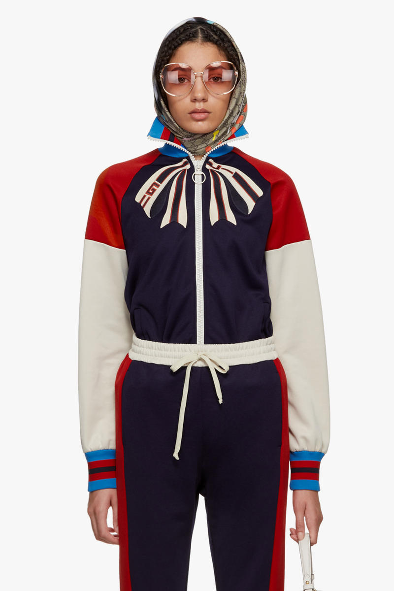 Shop Gucci's New Spring/Summer Arrivals Fashion Clothes Cat Sweater Gucci Tracksuit Monogram