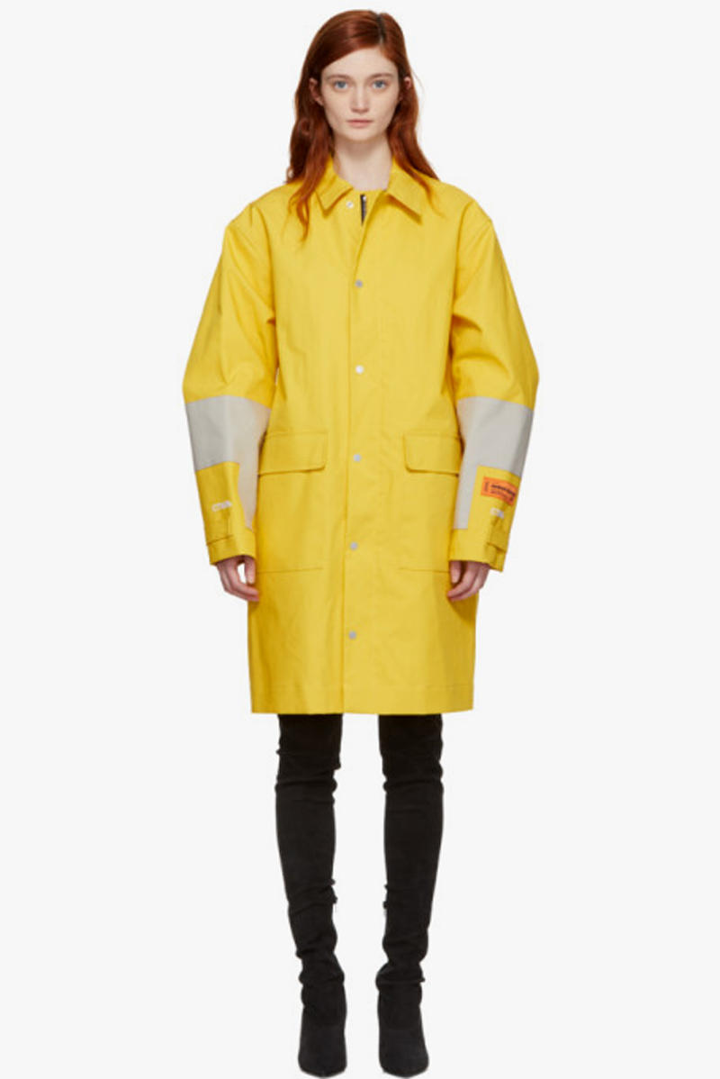 Heron Preston Bonded HP Raincoat Yellow