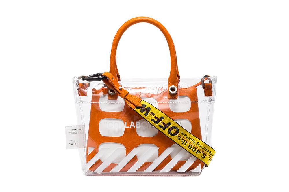 Heron Preston Off-White™ COLLABORATION off white virgil abloh handbag bags orange pvc where to buy