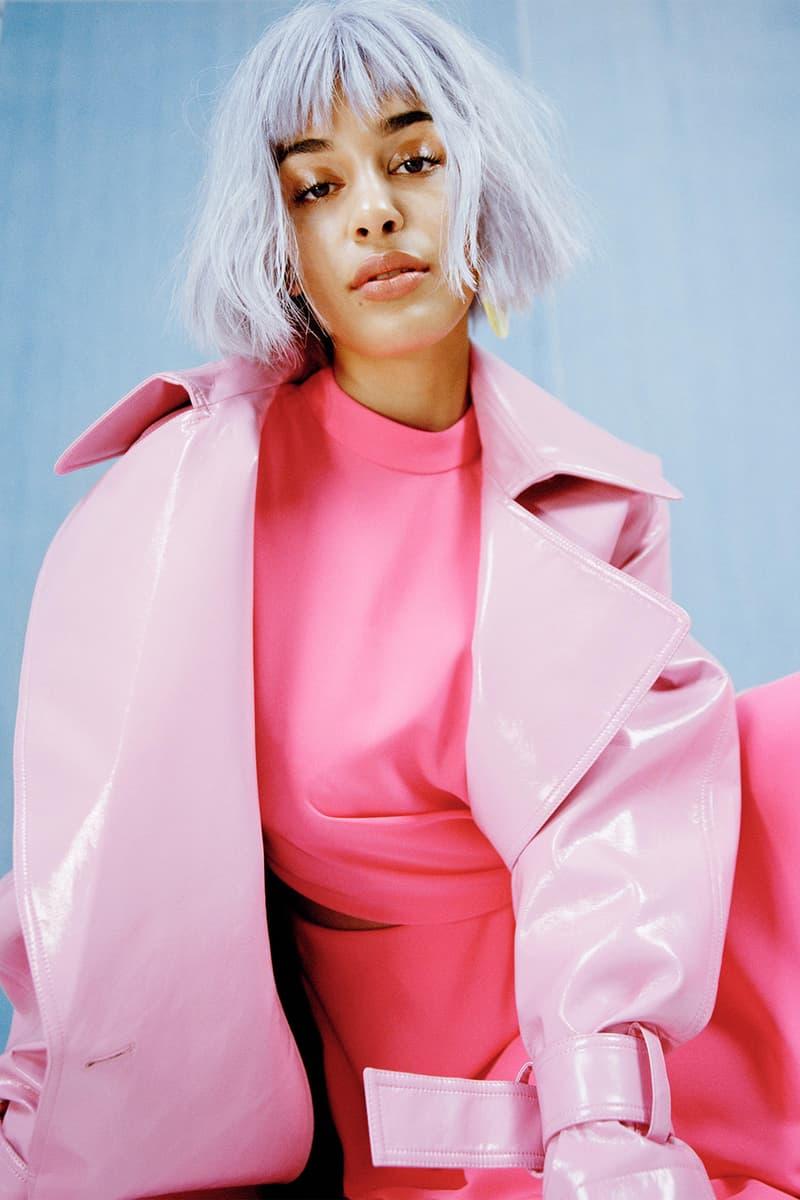 Jorja Smith brit award winner 2018 interview photoshoot editorial asos magazine 100 issue brits purple hair bob