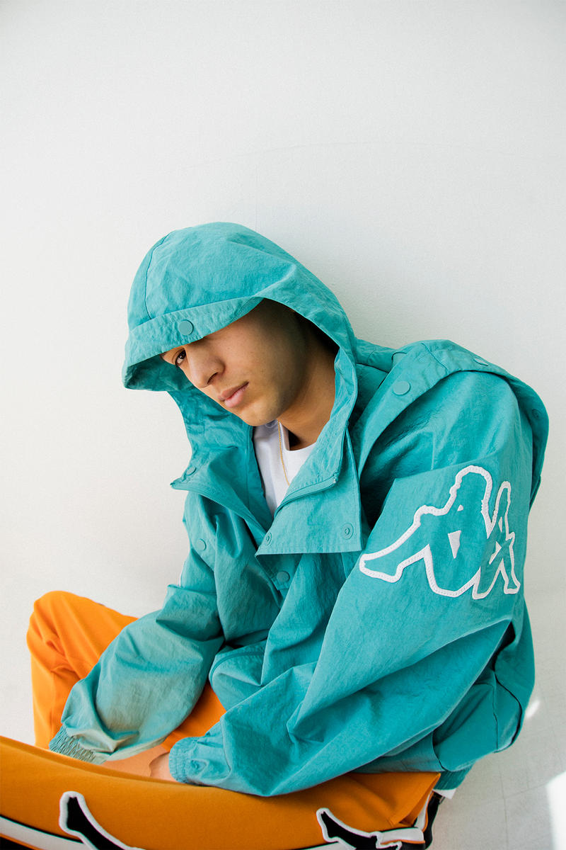 kappa spring summer banda collection teal orange black omni logo tracksuit