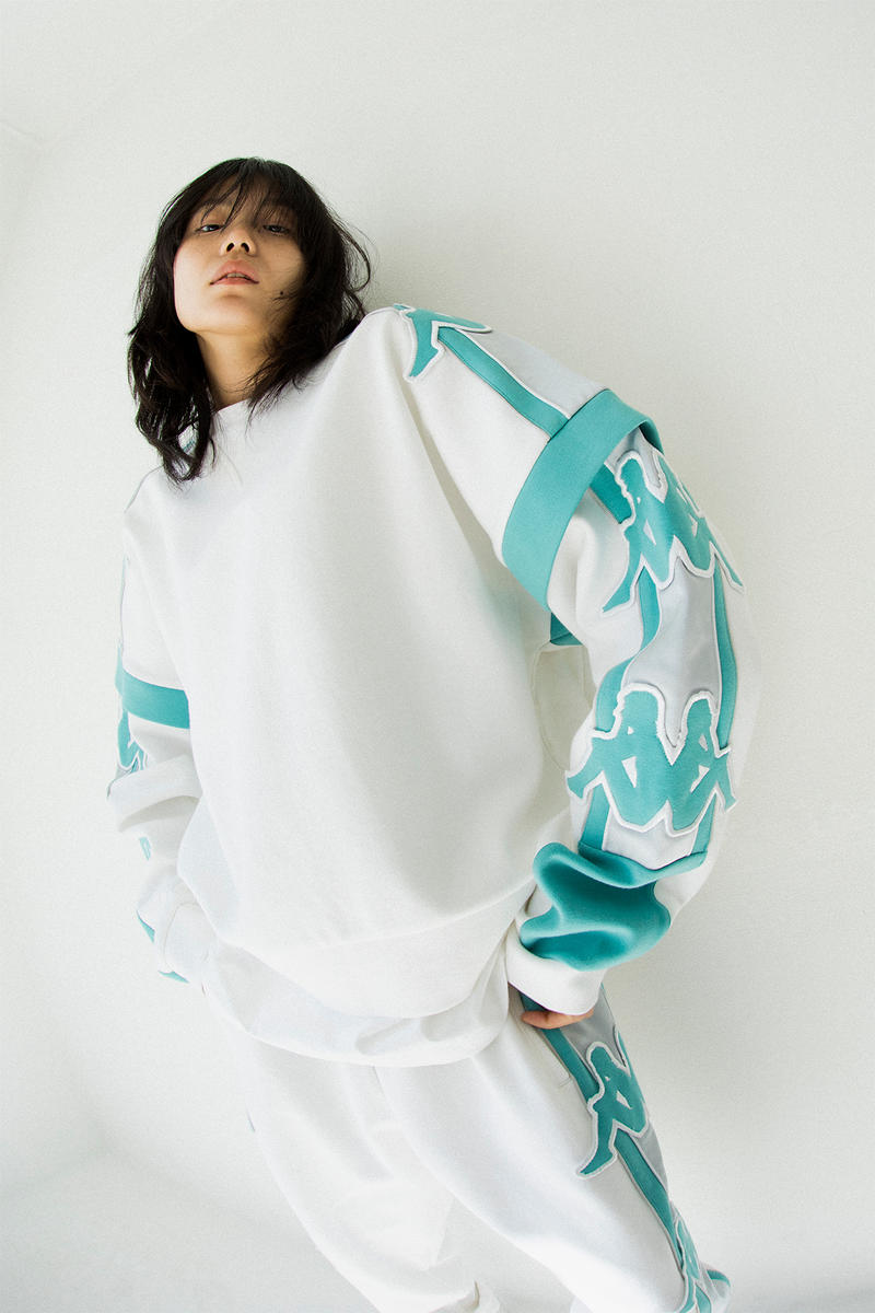 kappa spring summer banda collection teal white omni logo tracksuit