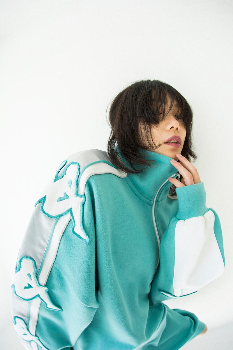 kappa spring summer banda collection teal white black omni logo tracksuit