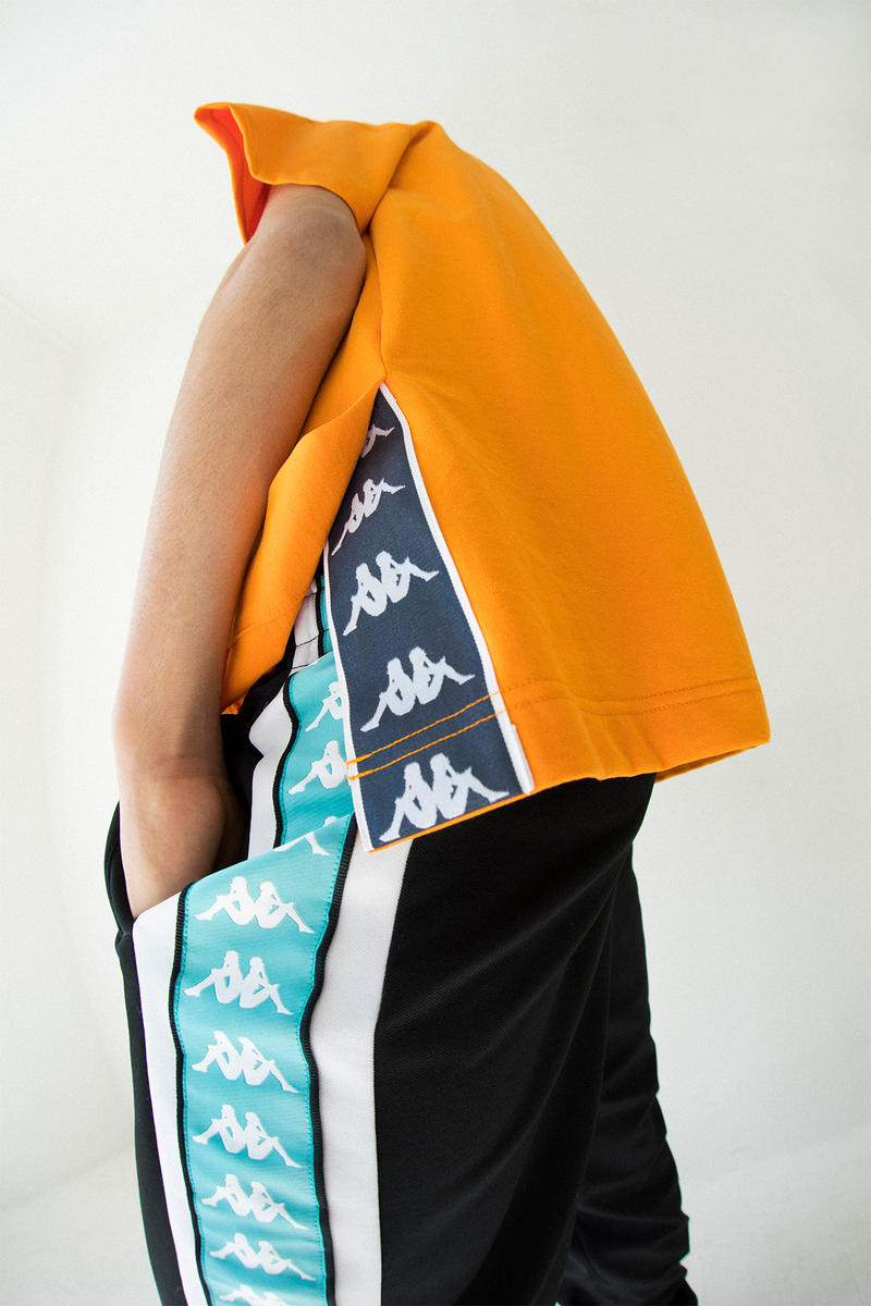 kappa spring summer banda collection teal black omni logo sweater orange