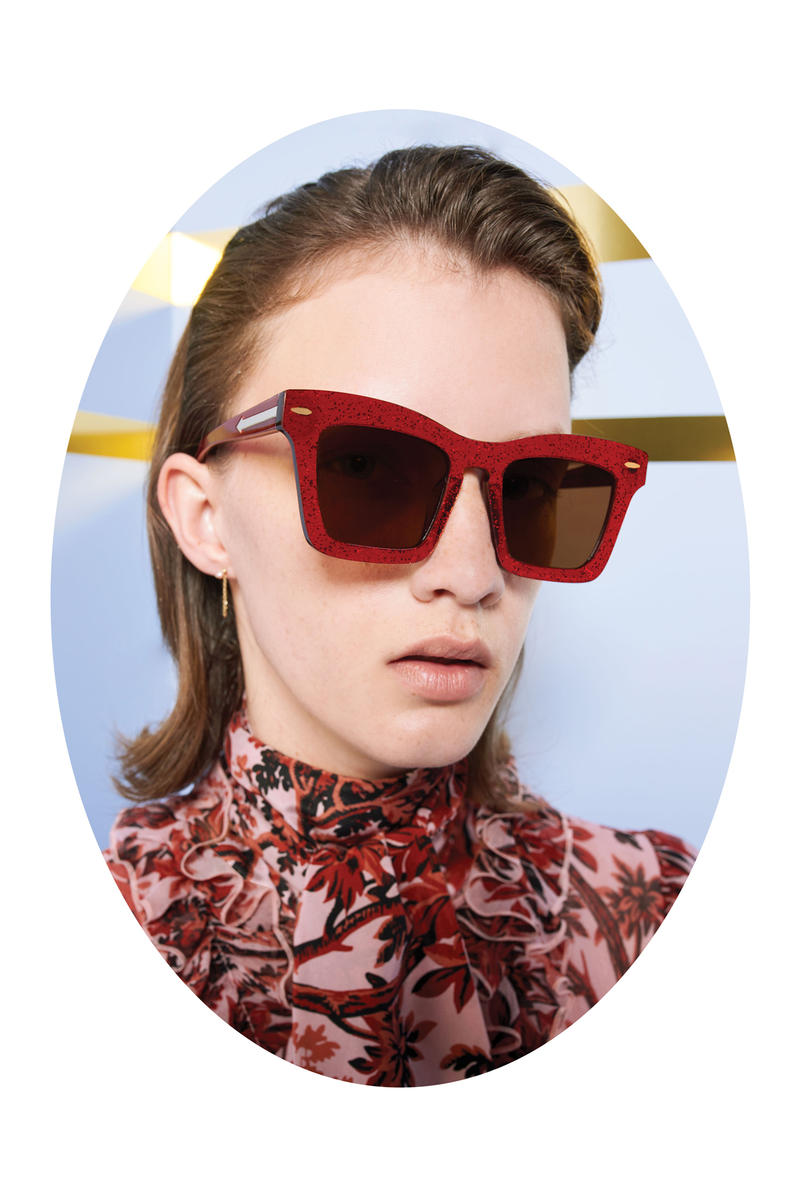 Karen Walker Lost In Paradise Collection Campaign Banks Glitter Red