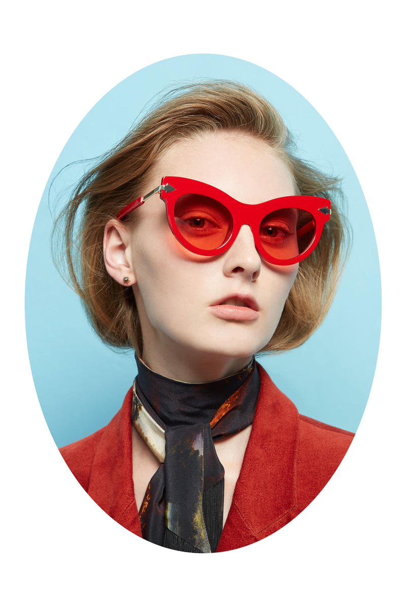 Karen Walker Lost In Paradise Collection Campaign Miss Lark Red