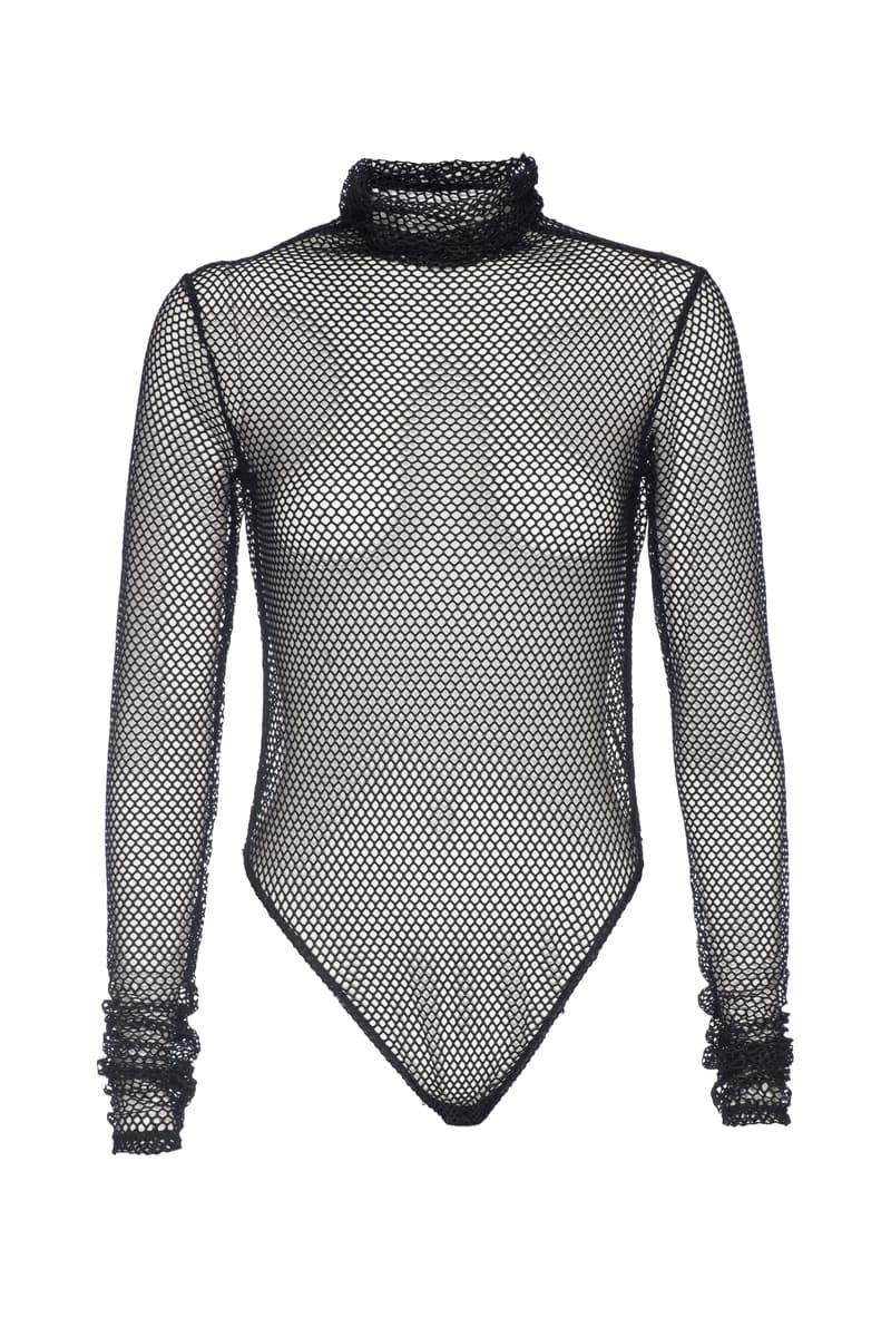 Khloe Kardashian Good American Body Suit Collection Mesh Fishnet Denim Size Inclusive