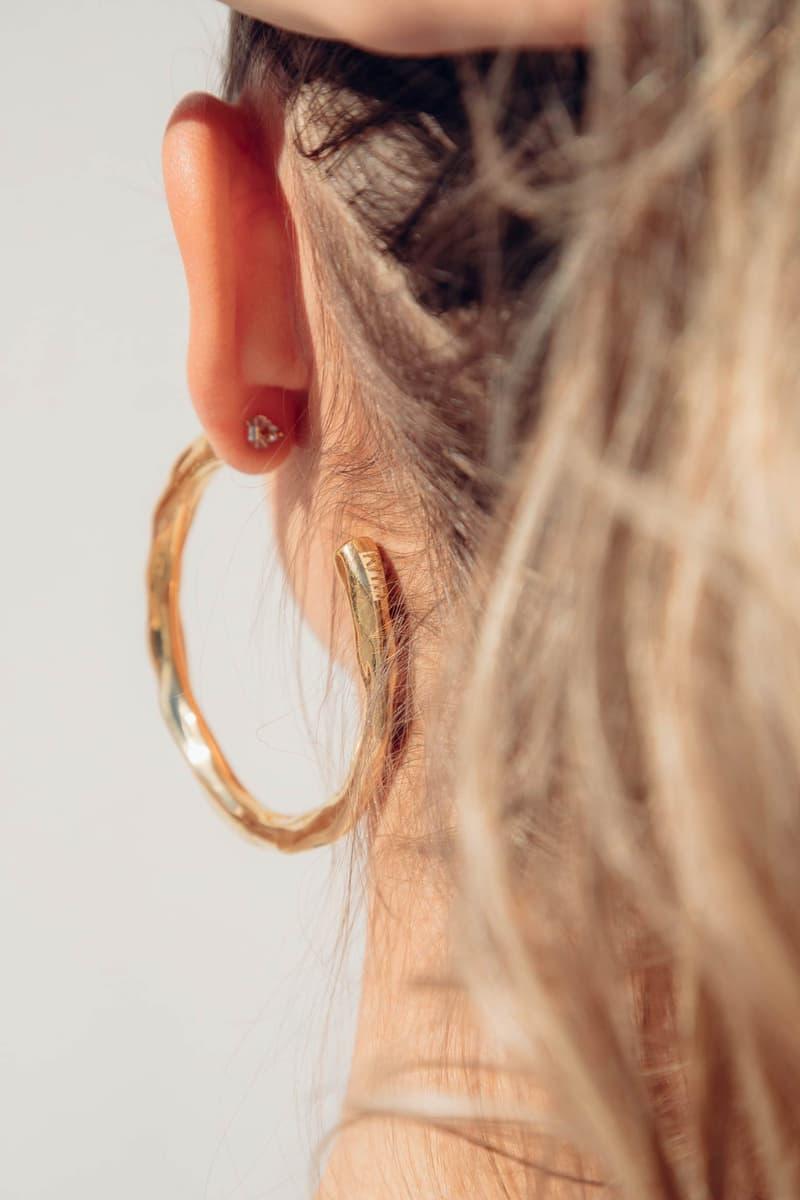 Pamela Love KITH Women Gold Bamboo Hoop Earrings