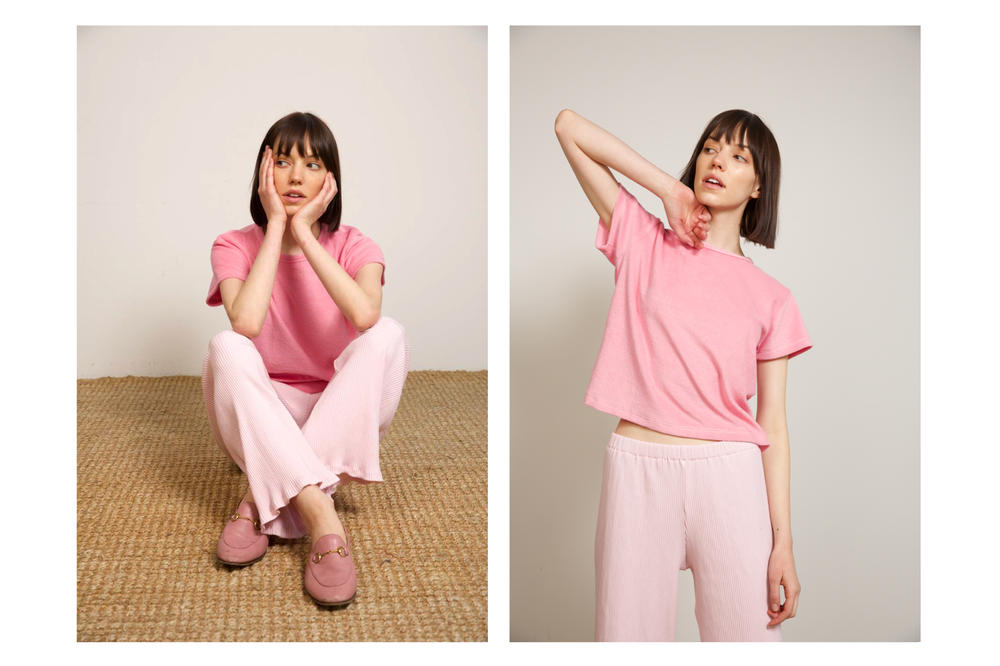 Liana Spring/Summer 2018 Collection Lookbook Pants Tee Pink