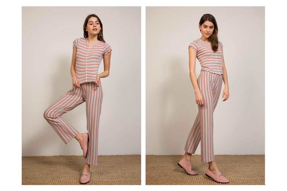 Liana Spring/Summer 2018 Collection Lookbook Striped Shirt Pants