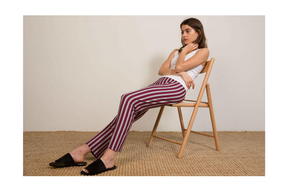 Liana Spring/Summer 2018 Collection Lookbook Striped Pants Tank Top White