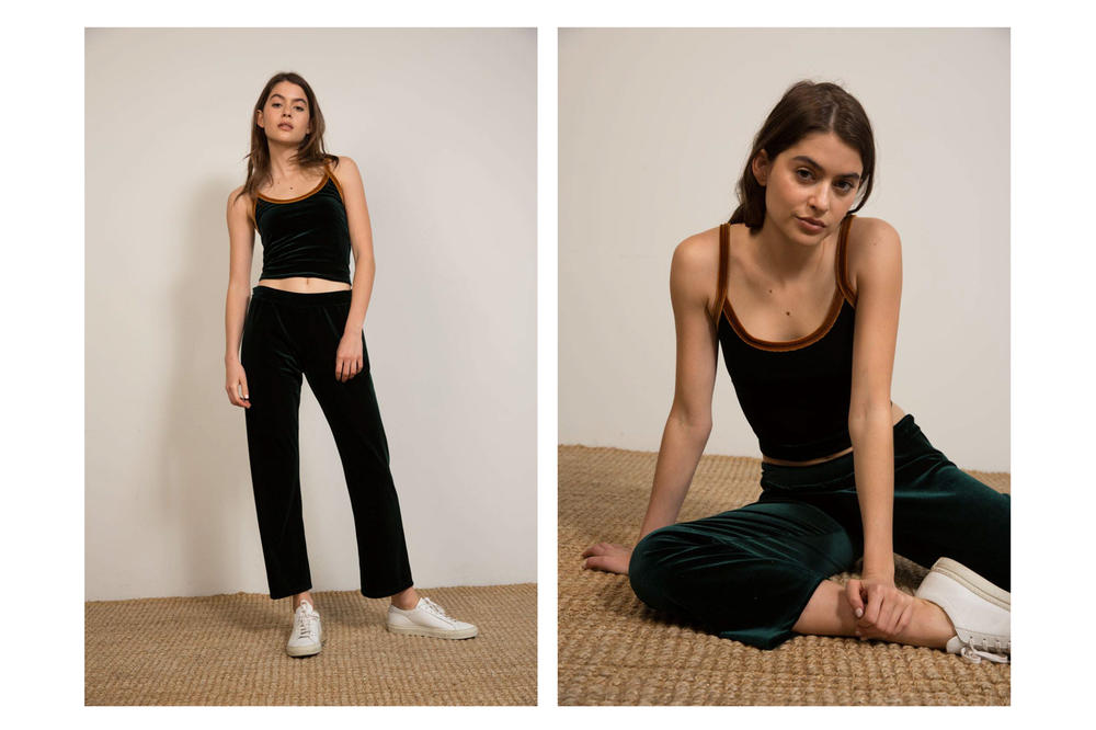 Liana Spring/Summer 2018 Collection Lookbook Tank Pants Black