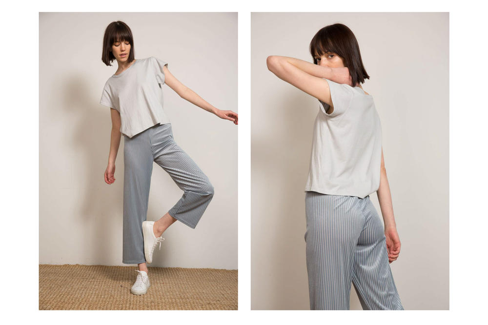 Liana Spring/Summer 2018 Collection Lookbook Tee Pants Grey