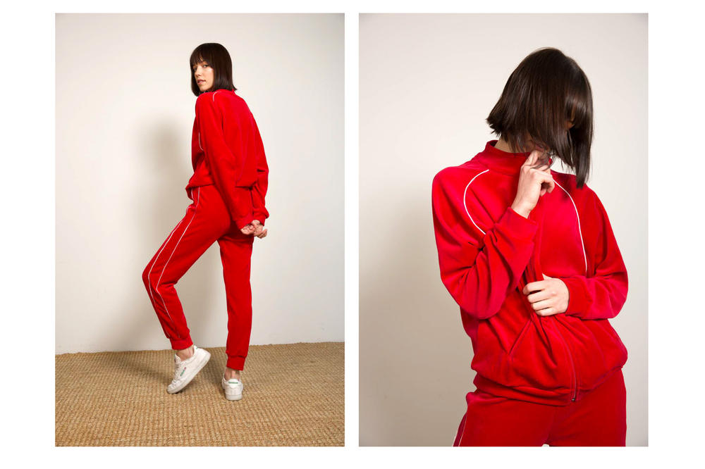 Liana Spring/Summer 2018 Collection Lookbook Tracksuit Red