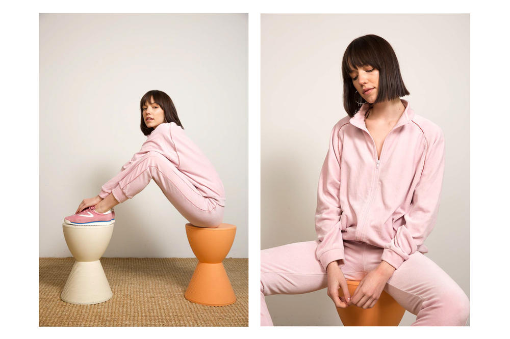 Liana Spring/Summer 2018 Collection Lookbook Tracksuit Pink