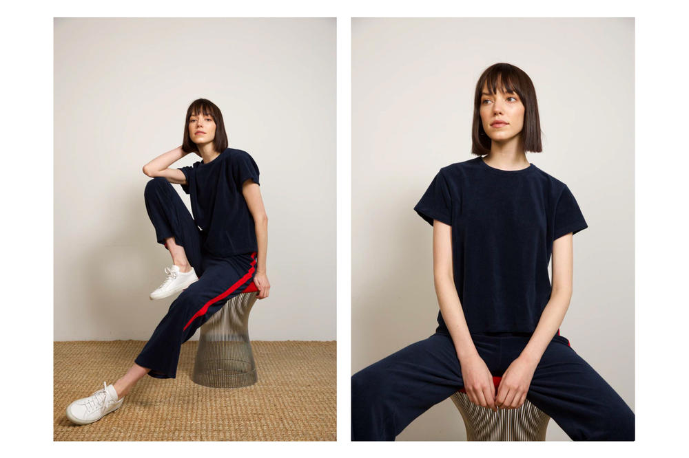 Liana Spring/Summer 2018 Collection Lookbook Striped Pants Tee Blue