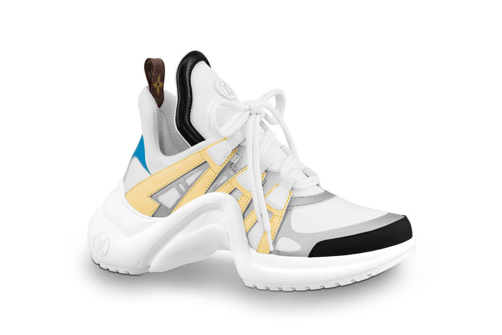 Louis Vuitton Archlight Sneaker Chunky Monogram White Yellow Blue
