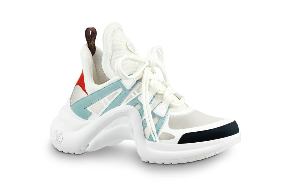 Louis Vuitton Archlight Sneaker Chunky Monogram White Blue Red